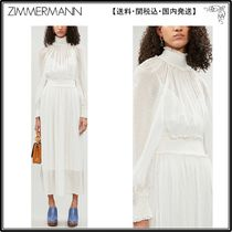【海外限定】Zimmermannシルクドレス☆Super Eight high-neck si