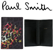 Paul Smith ポールスミス Men's'Leopard Mix'Credit Card Wallet