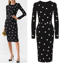 DG2147 POLKA DOT PRINT CREPE DRESS