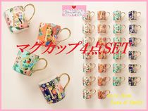 最安値*関税送料込【Anthro】Garden Party Monogram Mug 4点SET