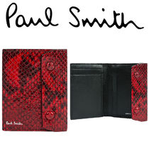 Paul Smith ポールスミス  Men's Red Snake Credit Card Wallet
