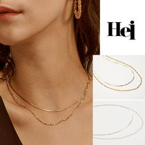 Hei・ヘイ two lines chain necklace 2ラインチェーンネックレス