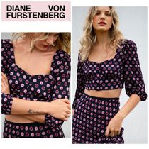 【TVF for DVF】●日本未入荷●Willow Satin-Blend Cropped Top