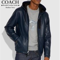 【COACH】限定セール!●Hooded Leather Jacket●フード付き