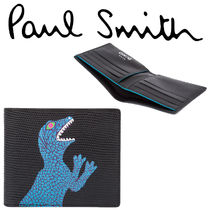 Paul Smith ポールスミス Men's 'Dino' Leather Billfold Wallet