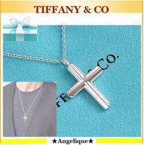 TIFFANY★Sterling Silver Concave Cross Pendant