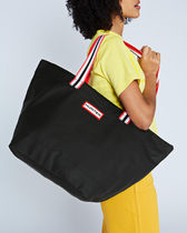 【HUNTER】Original Lightweight Rubberized Tote Bag: Black