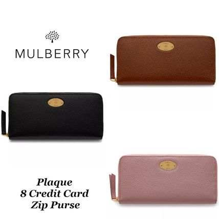 【Mulberry】 Plaque 8 Credit Card Zip Purse 長財布