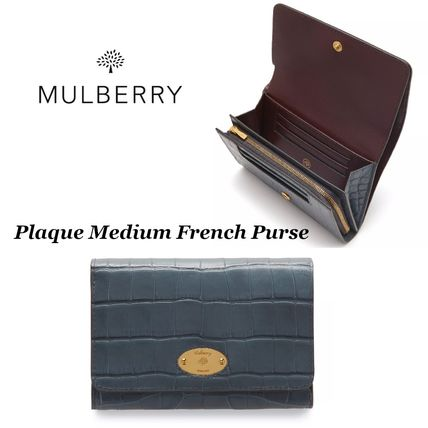 【Mulberry】 Plaque Medium French Purse 財布