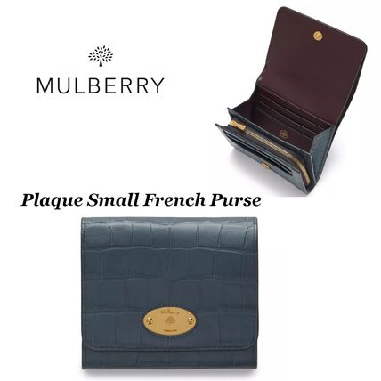 【Mulberry】 Plaque Small French Purse 財布