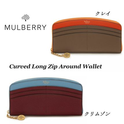 【Mulberry】 Curved Long Zip Around Wallet 長財布