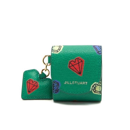 JILLSTUART スマホケース・テックアクセサリー 【JILLSTUART】★PETIT DIAMOND HEART CHARM AIRPODS CASE★(12)