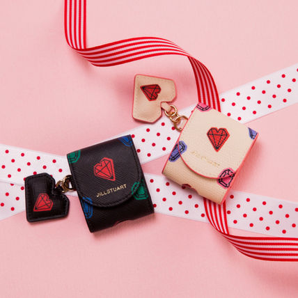 JILLSTUART スマホケース・テックアクセサリー 【JILLSTUART】★PETIT DIAMOND HEART CHARM AIRPODS CASE★(16)