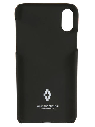Marcelo Burlon スマホケース・テックアクセサリー MARCELO BURLON WINGS IPHONE Xケース(Black)(3)