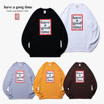 [have a good time] Frame Long Sleeve T-shirt ロゴL/S Tシャツ