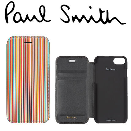 Paul Smith スマホケース・テックアクセサリー Paul Smithポールスミス Signature Stripe iPhone 6/6S/7/8 Case