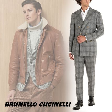 BRUNELLO CUCINELLI スーツ 【BRUNELLO CUCINELLI】Prince of wales suits