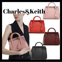 [Charles&Keith]*TUCK-IN FLAP STRUCTURED BAG*2WAY