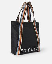 Stella McCartney	TOTE BAG NYLON LOGO	594251	W8580	1000	BLACK