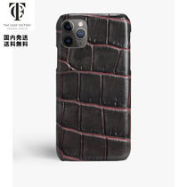 The Case Factory*iPhone 11 PRO クロコダイル*TAUPE/PINK