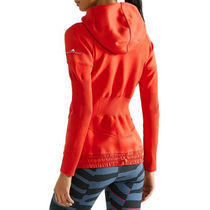 Z.N.E. ribbed knit-paneled stretch-jersey hooded top