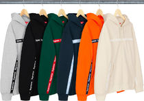 Supreme Text Stripe Zip Up Hooded Sweatshirt AW19 Week 9
