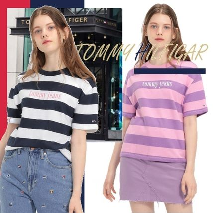 Tommy Hilfiger Tシャツ・カットソー TOMMY HILFIGER【即発】ストライプTシャツ/TOMMY JEANS