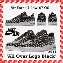 Nike Air Force 1 Low '07 QS 'All Over Logo Black' FW 17 2017