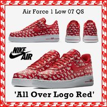Nike Air Force 1 Low 07 QS 'All Over Logo Red' FW 17 2017