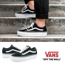 [バンス] OLD SKOOL PLATFORM BLACK/WHITE 厚底 VN0A3B3UY28