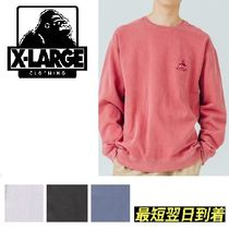 XLARGE*EMBROIDERY OLD OG PIGMENT スウェット