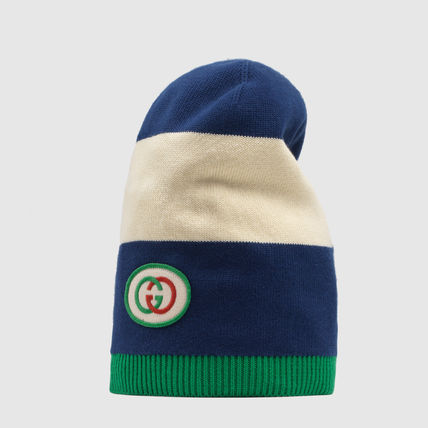 GUCCI ニットキャップ・ビーニー 【正規品保証】GUCCI★2020SS★KNIT HAT WITH INTERLOCKING G(2)