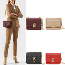 BB304 SMALL QUILTED MONOGRAM LAMBSKIN TB BAG