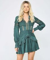 SELF-PORTRAIT Green Trimmed Wrap Dress 21 season