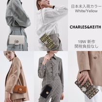 日本未入荷色/19W新作☆CHARLES&KEITH Mini Chrome Button長財布
