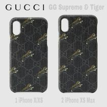 限定SALE★黒濃灰GG Supreme【送込 GUCCI】iphone X-XS Max★虎