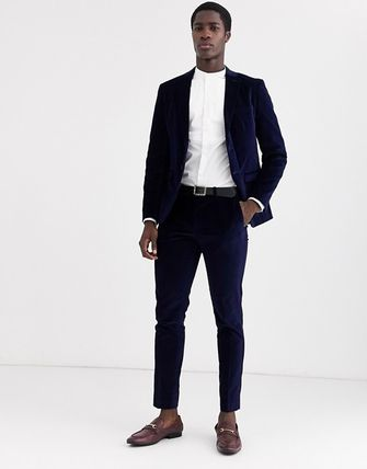 ASOS スーツ スーツ2点セットSelected Hommeベルベットスリムセットスーツ(9)