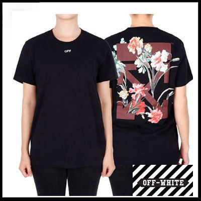 Off-White Tシャツ・カットソー (オフホワイト) Arrows Flowers T-Shirt OWAA049E19B07066