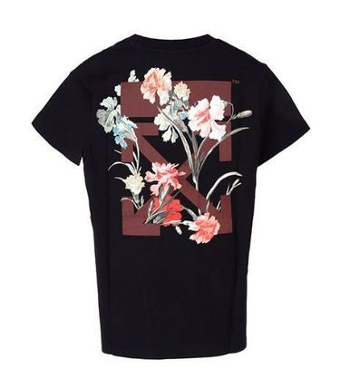 Off-White Tシャツ・カットソー (オフホワイト) Arrows Flowers T-Shirt OWAA049E19B07066(6)