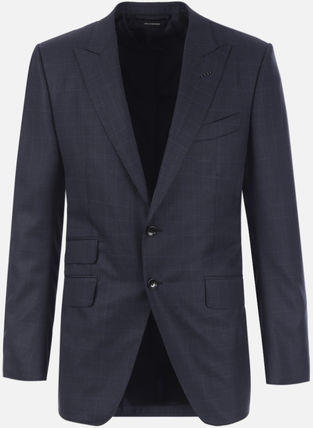 TOM FORD スーツ 【TOM FORD】O'CONNOR TWO-PIECES SUIT IN PRINCE OF WALES WOOL(3)