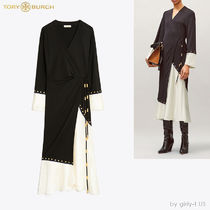 ☆Tory Burch☆MIXED-MATERIAL WRAP DRESS ラップドレス