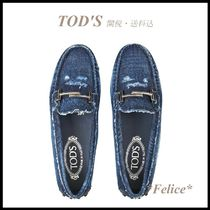 *TOD'S トッズ*GOMMINO LOAFERS IN DENIM【関税/送料込】