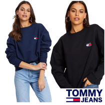 Tommy Jeans スウェット Tommy Badge トレーナー ロゴ 2色