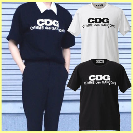 COMME des GARCONS Tシャツ・カットソー [即発] COMME des GARCONS CDG ロゴ カットソー Tシャツ