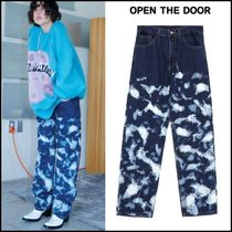 OPEN THE DOOR★韓国★男女兼用★camouflage denim pants