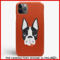 関税送料込☆THE CASEFACTORY☆IPHONE 11 PRO MAX SWAROVSKI DOG