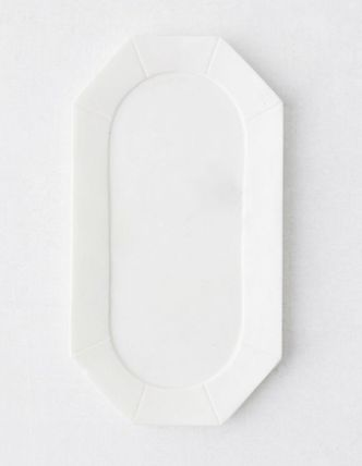 Urban Outfitters 棚・ラック・収納 【Urban Outfitters】大人気♪大理石Faceted Marble Tray 全二色(3)