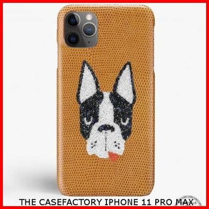 THE CASE FACTORY スマホケース・テックアクセサリー 関税送料込☆THE CASEFACTORY☆IPHONE 11 PRO MAX SWAROVSKI DOG