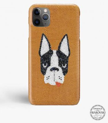 THE CASE FACTORY スマホケース・テックアクセサリー 関税送料込☆THE CASEFACTORY☆IPHONE 11 PRO MAX SWAROVSKI DOG(2)