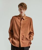 ADD SEOUL  VELVET HIDDEN LONG SHIRTS  アッド ベルベットシャツ